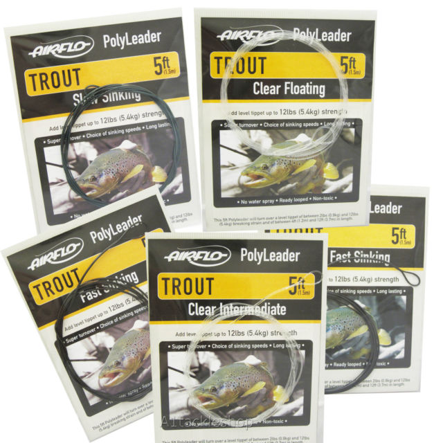 Airflo Polyleader Light Trout 5ft Clear Floating